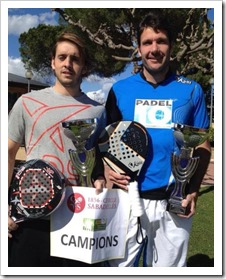 Edu Bainad y Joan Gisbert campeones provinciales de Barcelona 2013-