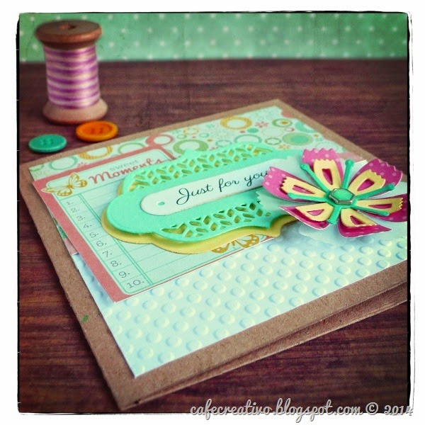 cafe creativo - Anna Draicchio - sizzix big shot - card flower label