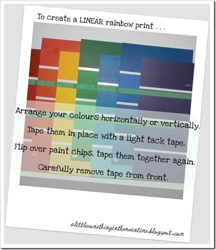 Linear rainbow print