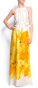 Flower halter dress