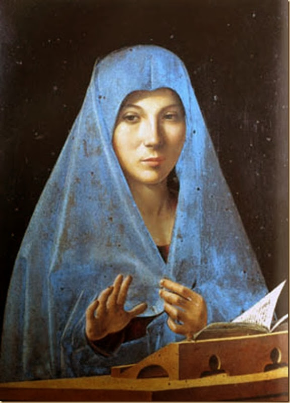 Antonello da Messine, Vierge Marie