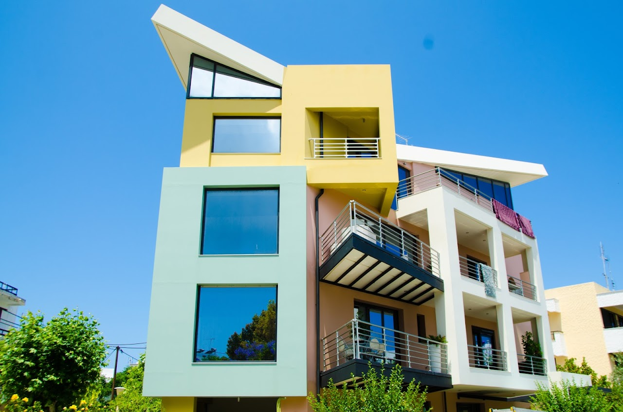 Colorful houses in Kos