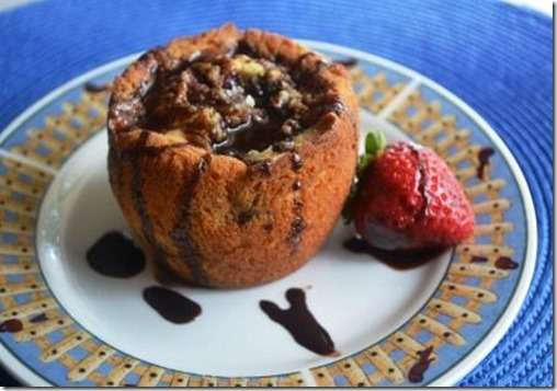 Chocolate Strawberry Banana muffin