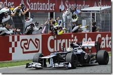 Maldonado vince il gran premio di Spagna 2012