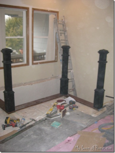 Black newel posts