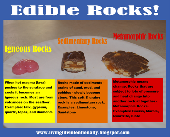 Edible Rocks for homeschool science