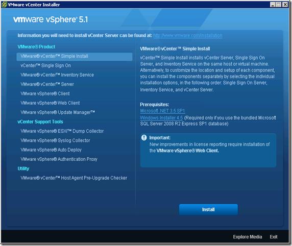 01_VMware vCenter Installer