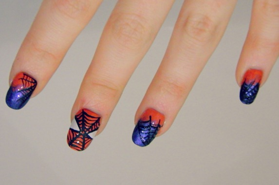 Amazing spiderman nails finished