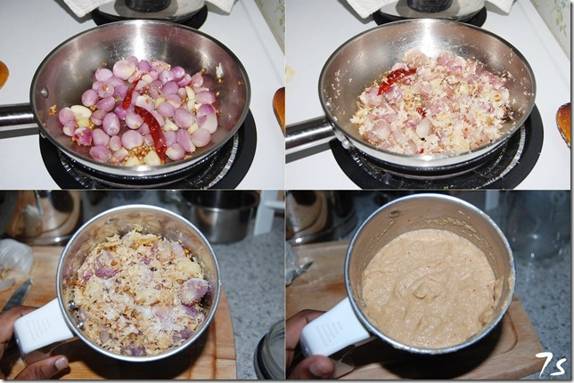 Onion chutney process