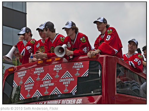 'Blackhawks Victory Parade bus' photo (c) 2010, Seth Anderson - license: https://creativecommons.org/licenses/by-sa/2.0/
