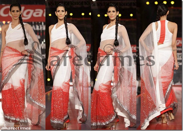 Manish_Malhotra_White_and_Red_Hallf_and_Half_Saree