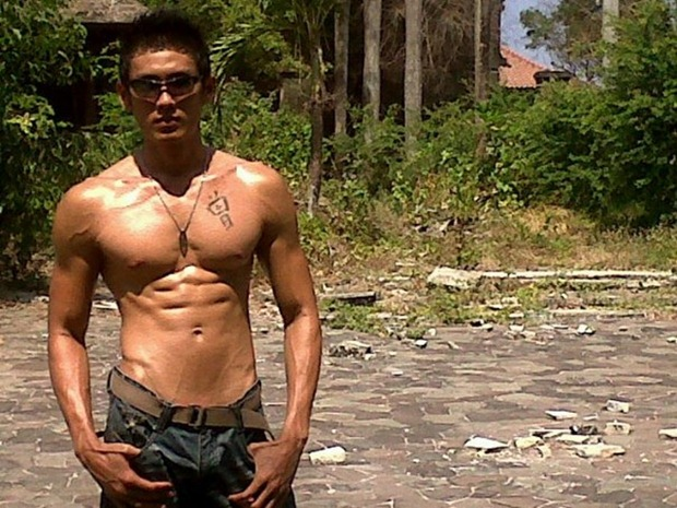 Asianmales-Little Shirtless Sexy with Unknown Male Model-13
