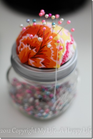 No Sew Pin Cushion - Mason Jar Pin Cushion - My Life...A Happy Life (7 of 7)