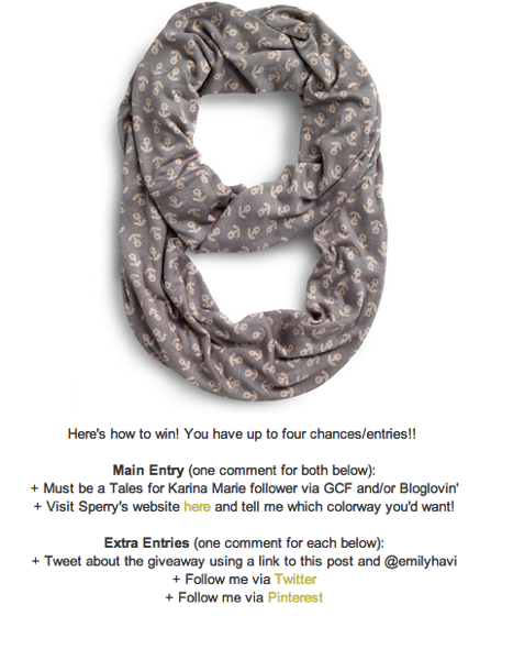Sperry Scarf Giveaway