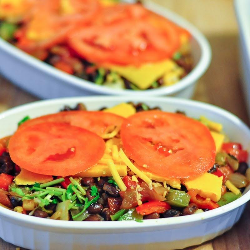 Quinoa+bean casserole