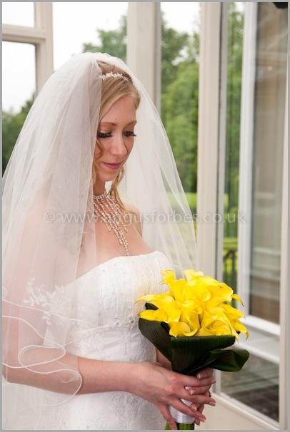 Wedding flowers at the landmark hotel dundee