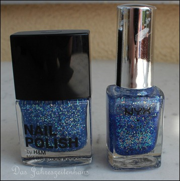 H&M Nagellack Dupe NYX Turks and Caicos Blue Bliss