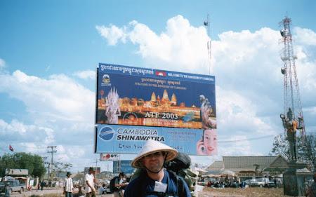 Punct frontiera cambogian la Poipet