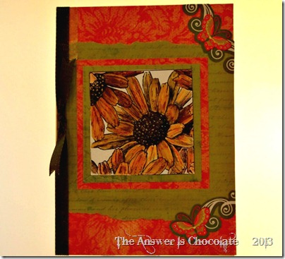 Sunflower and Butterfly Card