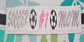 custom personalized bracelet soccer mom