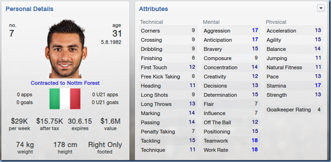 Michele Pazienza in Football Manager 2013