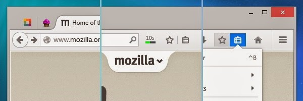 New redesigned, intuitive Firefox menu