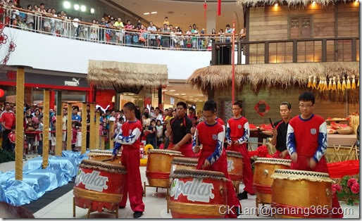 A drum performance started off the event
