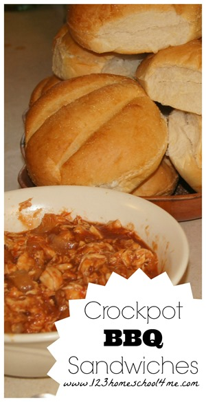 Super easy to make Crockpot BBQ Sandwiches #recipes #crockpot