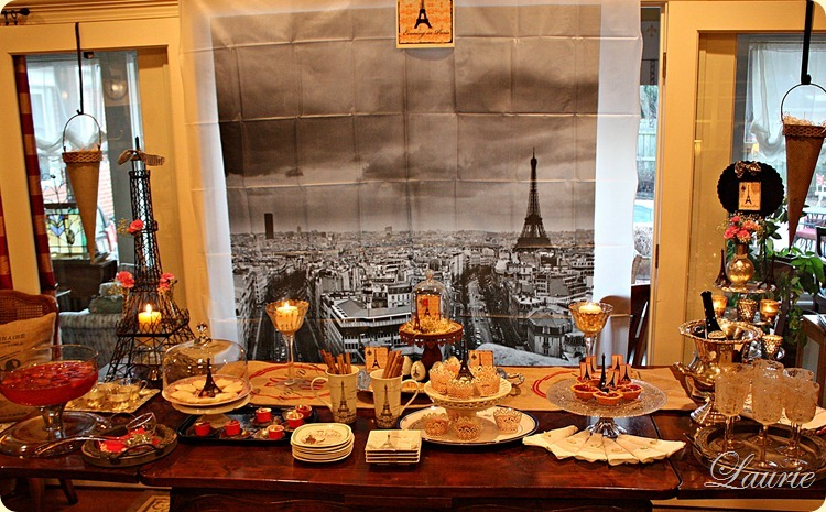 Valentine/Paris Tablescape-Bargain Decorating with Laurie