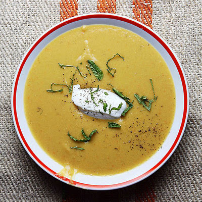 Lentil Soup with Caraway and Minted Yogurt