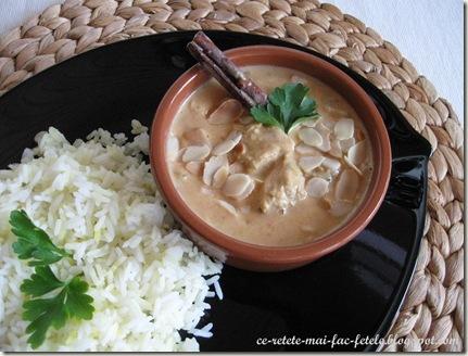 Pui indian Korma - servim cu orez basmati