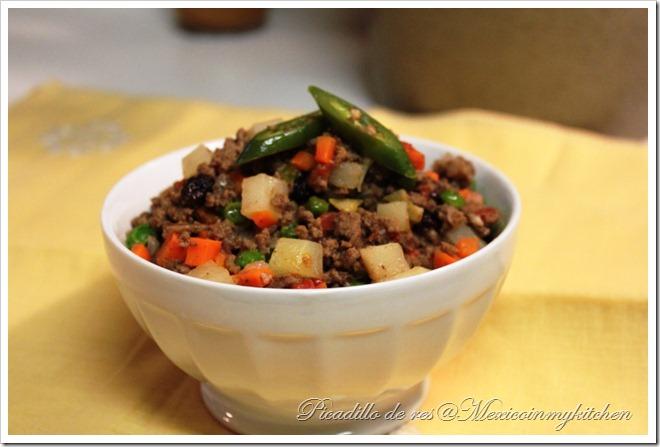 Beef Picadillo recipe chiles rellenos