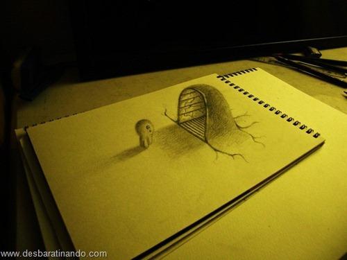 desenhos lapis 3D desbaratinando  (6)