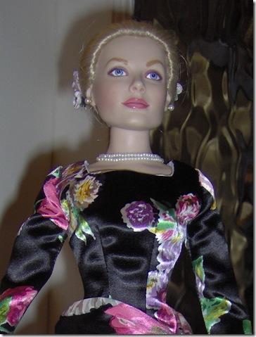 Grace Kelly Black Print Dress 7
