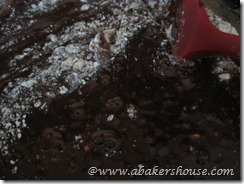 add flour to chocolate