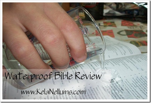 waterproof bible review with website