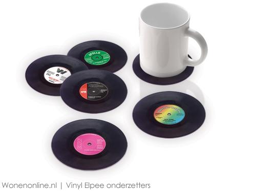 Vinyl-Elpee-onderzetters