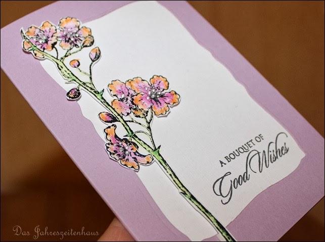 Grußkarte handgemacht Blüte 4