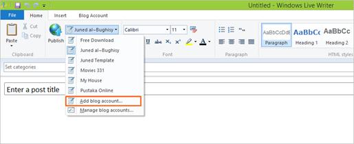 Menulis dan Memposting Artikel Blog dengan Windows Live Writter 01