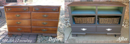 craigslist dresser transformation before and after