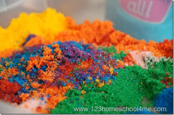 Beautiful sensory material for preschoolers
