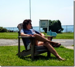 T relaxing at Tibbetts Point