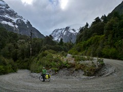 Descending from a pass in Parque Nacional Queulat, Chile