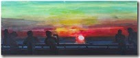 rainer-fetting-promenade-sunset-sylt