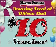 FREE $10 Voucher at Harvey Norman 2013 Discounts Offer Shopping EverydayOnSales