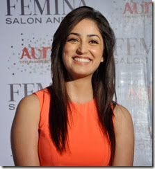 Yami Gautam New Pictures in Light Red Dress
