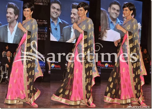 Mandira_Bedi_Tricolor_Half_and_Half_Saree