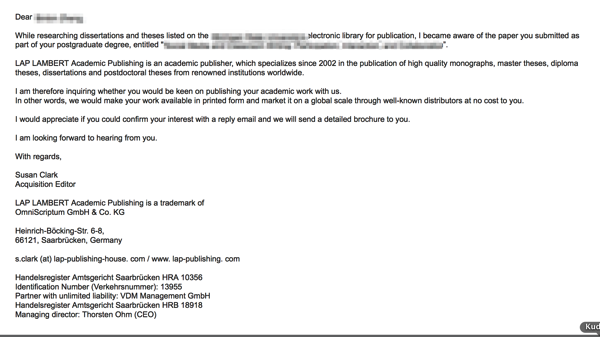 Scam publisher