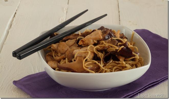 fideos arroz pollo setas chinas espe saavedra