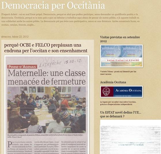 endrona occitana l'administracion francesa